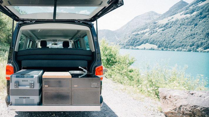 Heckküche mit den passenden Modulen für jede Reise