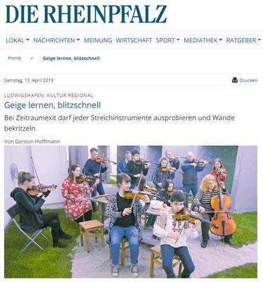 Zeitraumexit Rheinpfalz  13. April 2019