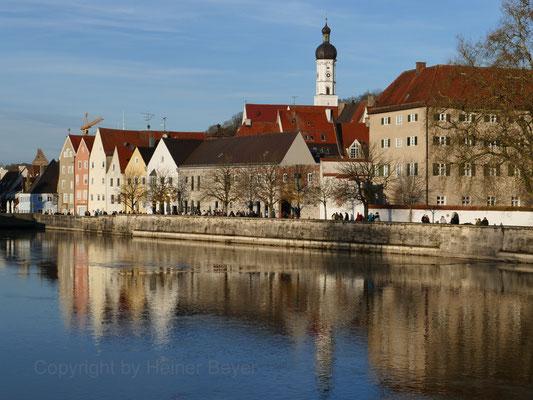 Altstadtsilhouette Landsberg am Lech / Stadt und Land 21