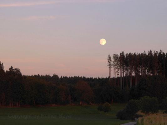 Vollmond kurz nach Sonnenuntergang / Lichtspiele 11