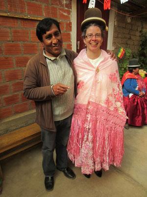 Internationale Leitung von Sartañani: Gualberto in El Alto, Martina in der Schweiz.