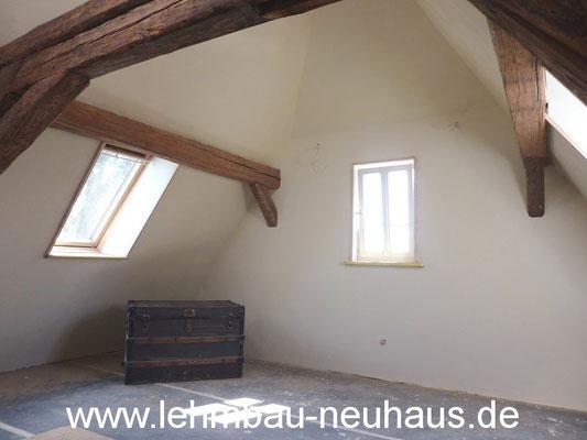 Dachausbau, Lehmputz, Wandheizung - 63073 Offenbach Bieber