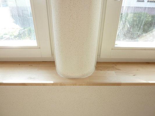 Fensterbrett - Fensterlaibung rund - Lehmputz