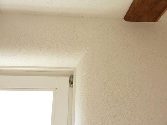 Fensterlaibung mit Lehmputz - rund