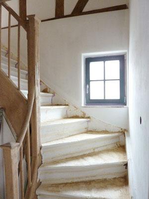 Treppenhaus mir Lem verputzen