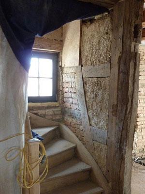 Treppenhaus Fachwerk