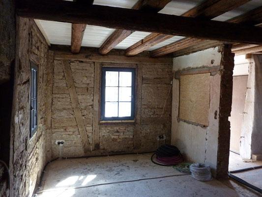 Fachwerk Wände vorbereiten für Lehmputz
