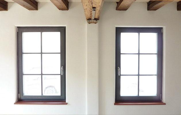 Lehmputz und Lehmfarbe - Fenster und Fensterbrett