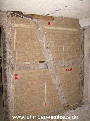 Fachwerk mit Lehmstein ausmauern - Küche