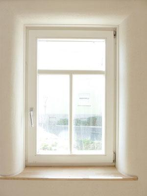 Fensterlaibung rund - Lehmputz