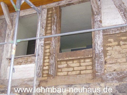 Fachwerk ausmauern mit Lehmsteinen