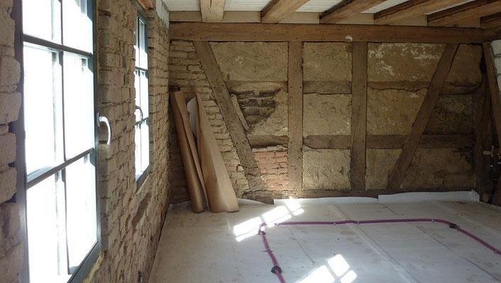 Altbausanierung - Fachwerkhaus entkernen