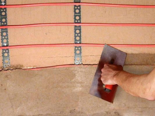 Wandheizung Montage - montieren & verputzen mit Lehmputz oder Kalkputz - WEM Klimarohr Klimaregister