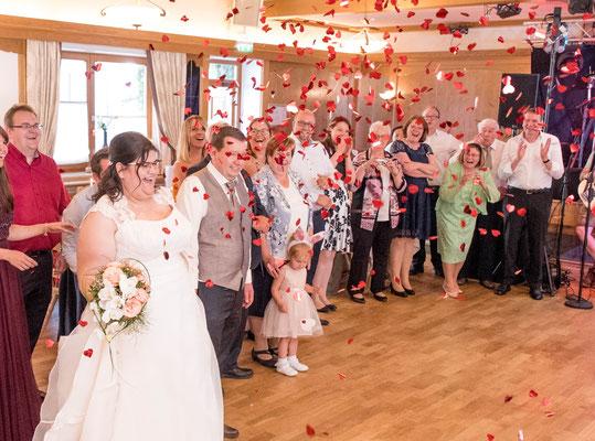 Ammersee Hochzeit Apricot eröffnungstanz