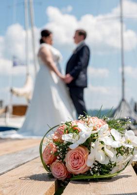 Ammersee Hochzeit Apricot Segelboot Bootsverleih