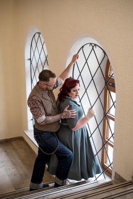 Pfaffenhofen Fotoshooting Vintage SOB Coupleshoot Rockabella Haus der Begegnung