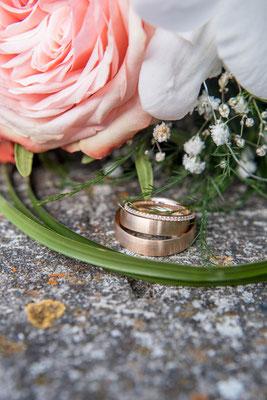 Ammersee Hochzeit Apricot Ringe Makro