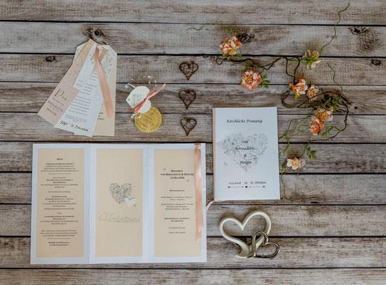 Ammersee Hochzeit Apricot papierterie