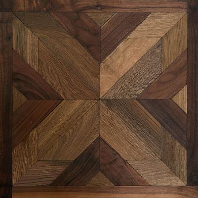 Tafelparkett DECO 1 Amerik. Walnuss/Eiche Terra, 600 x 600 mm