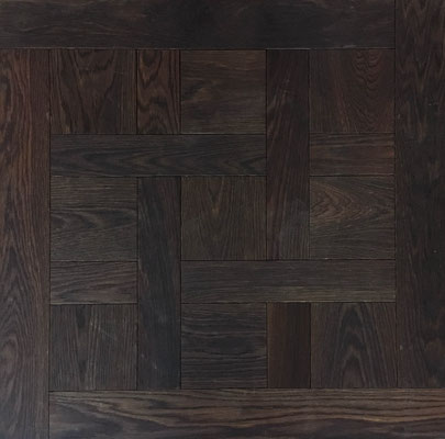 Tafelparkett Chantily Eiche tiefgeräuchert, geölt, 800 x 800 mm