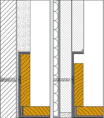 Montagemöglichkeiten - Basisprofil Alu + Deckprofil MDF