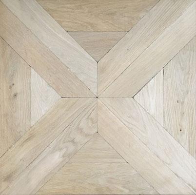 Tafelparkett DECO 2 Rustic, roh, 600 x 600 mm