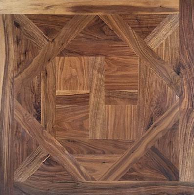 Tafelparkett Mensa Walnuss , 1000 x 1000 mm