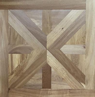 Tafelparkett Columba Eiche, Rustic, Antikbearbeitung, geölt, 800 x 800 mm