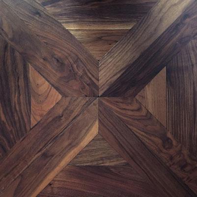 Tafelparkett DECO 2 Amerik. Walnuss, 600 x 600 mm