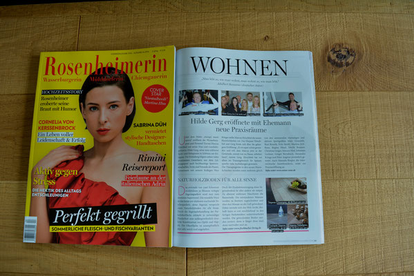 S. Fischbacher Living in der Zeitschrift Rosenheimerin