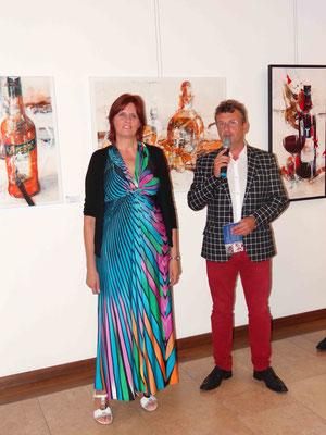 Bernhard Robotka eröffnet die Ausstellung