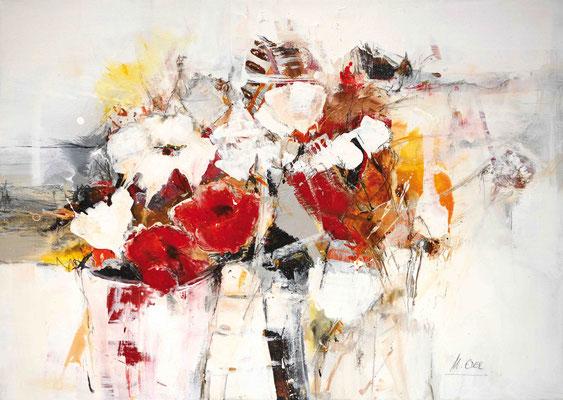 Mohnblumen, Acryl, 70x50
