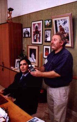 Antonio Maria Magro col direttore della Fotografia Pap Ferenc