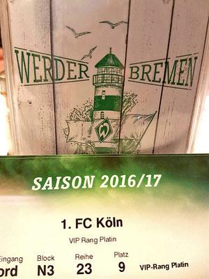 Mit 6 Stars am 16.12.2016 nach Bremen gegen Köln - VIP Rang Platin / Bild 3