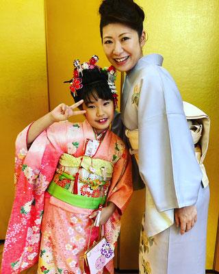 s七五三のママのお着物を千葉市習いごと応援キャンペーンを使用しました。