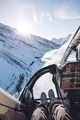 Helicopter Tour Banff Canmore in Winter