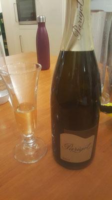 lecker Crémant aus der Bourgogne (Flasche 2 nach dem Rest Champagner)