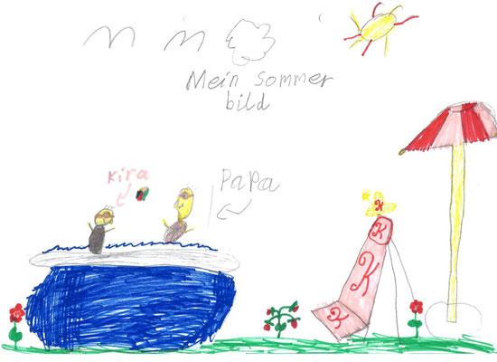 Mit Papa im Pool ... da wird der Sommer sicher cool! ;-)