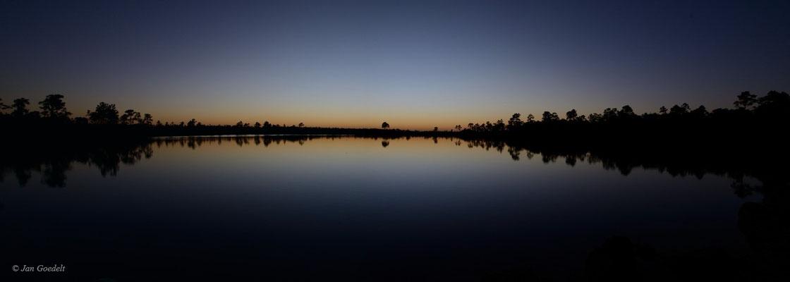 Abendliche Spiegelung in den Everglades, Florida