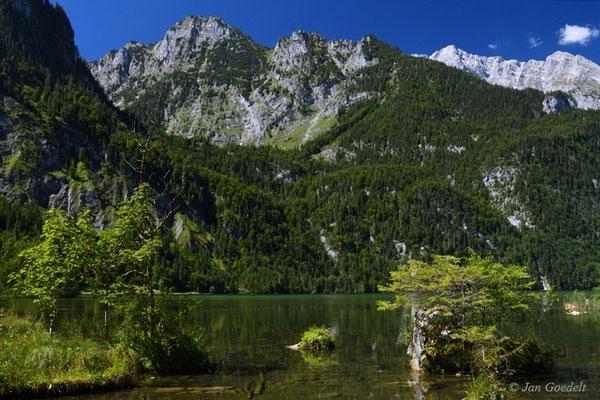 Königssee mit Bergkulisse, Bayern