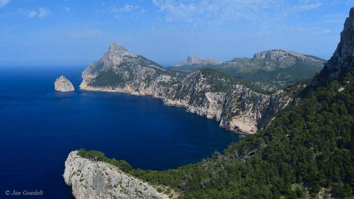 Ausblick auf das Cap Formentor, Mallorca