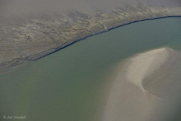 Breiter Priel im Schleswig-Holsteinischen Wattenmeer (Luftbild)