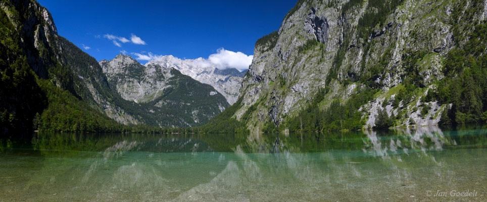 Hintersee mit Bergkulisse, Bayern