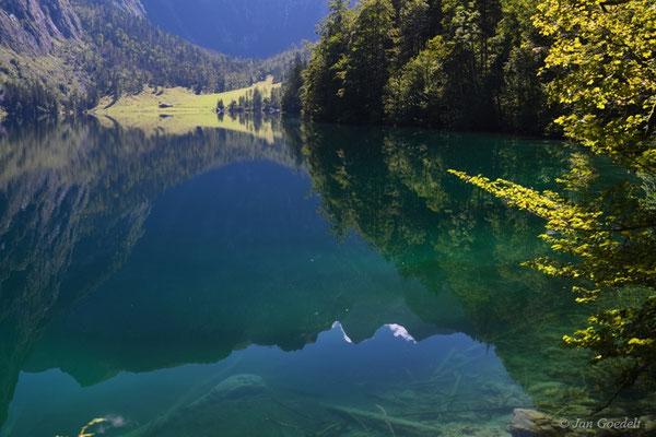 Spiegelung im Hintersee, Bayern