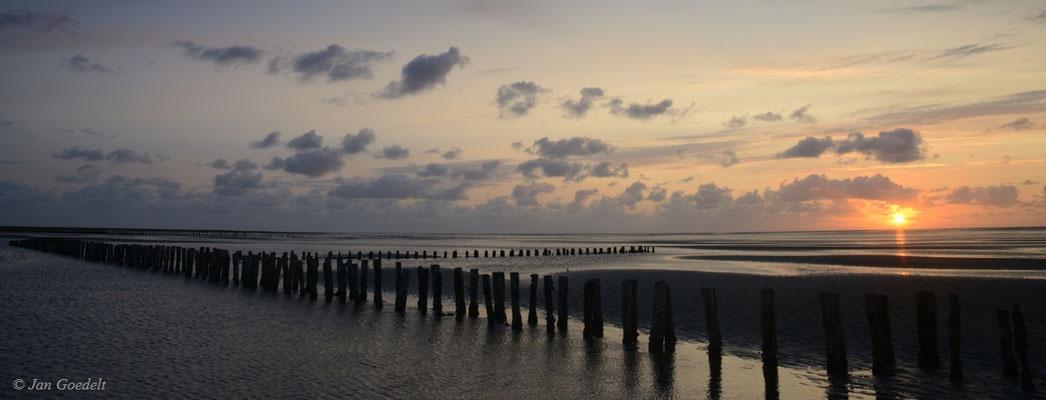 Lahnungen an der schleswig-holsteinischen Nordsee