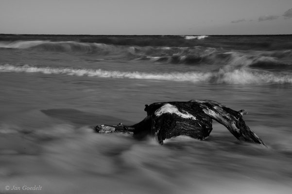 Ostseebrandung (schwarz-weiß)