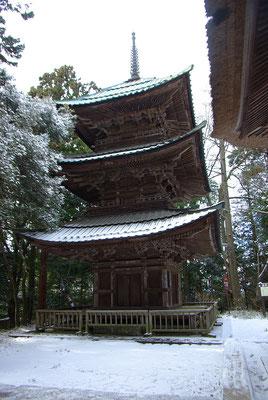 獨鈷山西明寺の三重塔:益子町