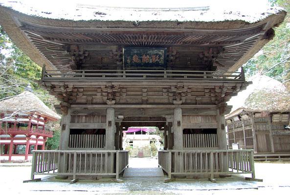 獨鈷山西明寺の楼門:益子町