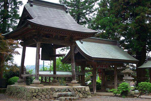 補陀洛山観音寺(澤観音寺)の山門と鐘楼:矢板市
