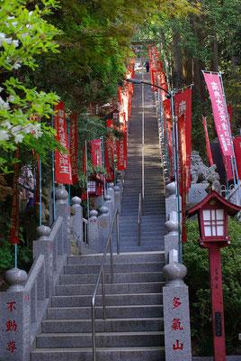 多気山持宝院(多気山不動尊)の階段